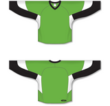 Athletic Knit (AK) H6600 Lime Green/Black/White League Hockey Jersey - PSH Sports