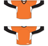 Athletic Knit (AK) H6600 Orange/Black/White League Hockey Jersey - PSH Sports