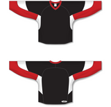 Athletic Knit (AK) H6600 Black/Red/White League Hockey Jersey - PSH Sports