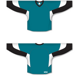 Athletic Knit (AK) H6600 Pacific Teal/Black/White League Hockey Jersey - PSH Sports
