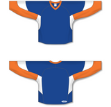 Athletic Knit (AK) H6600 Royal Blue/Orange/White League Hockey Jersey - PSH Sports