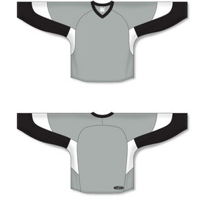 Athletic Knit (AK) H6600 Grey/Black/White League Hockey Jersey