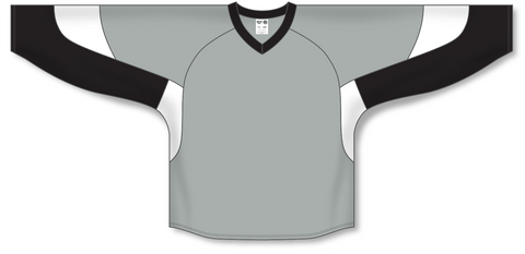 Athletic Knit (AK) H6600 Grey/Black/White League Hockey Jersey - PSH Sports