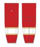 Athletic Knit (AK) HS2100 2016 Florida Panthers Red Mesh Cut & Sew Ice Hockey Socks - PSH Sports