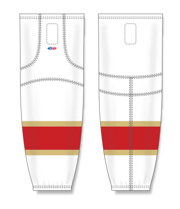 Athletic Knit (AK) HS2100 2016 Florida Panthers White Mesh Cut & Sew Ice Hockey Socks - PSH Sports