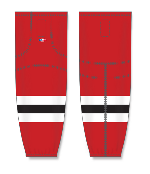 Athletic Knit (AK) HS2100 2017 New Jersey Devils Red Mesh Cut & Sew Ice Hockey Socks - PSH Sports