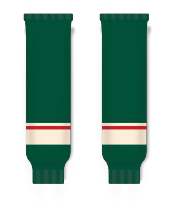 Athletic Knit (AK) HS630 2017 Minnesota Wild Dark Green Knit Ice Hockey Socks - PSH Sports