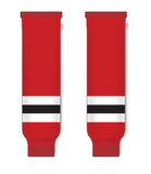 Athletic Knit (AK) HS630 2017 New Jersey Devils Red Knit Ice Hockey Socks - PSH Sports