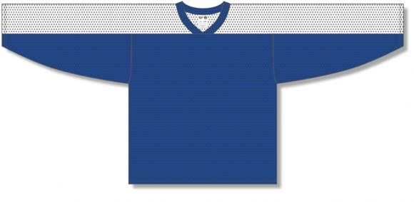 Athletic Knit (AK) LB153 Royal Blue/White Box Lacrosse Jersey