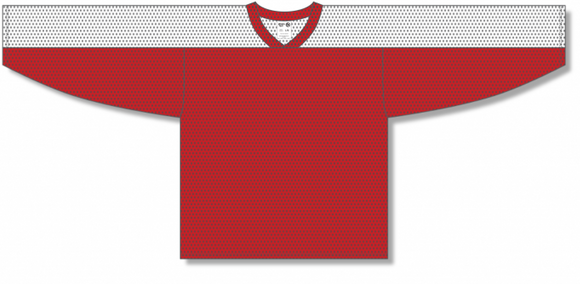 Athletic Knit (AK) LB153 Red/White Box Lacrosse Jersey