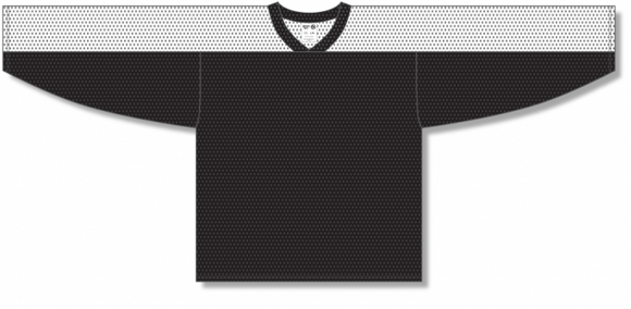 Athletic Knit (AK) LB153 Black/White Box Lacrosse Jersey