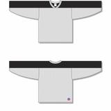 Athletic Knit (AK) LB153-222 White/Black Box Lacrosse Jersey