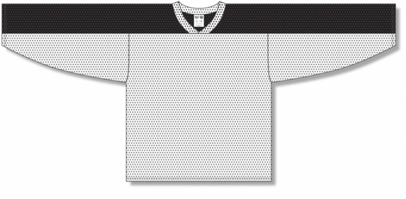 Athletic Knit (AK) LB153 White/Black Box Lacrosse Jersey