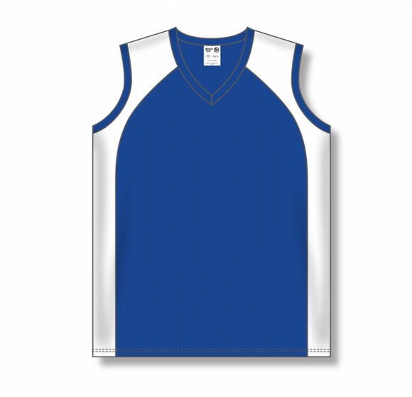 Athletic Knit (AK) BA601L Ladies Royal Blue/White Softball Jersey