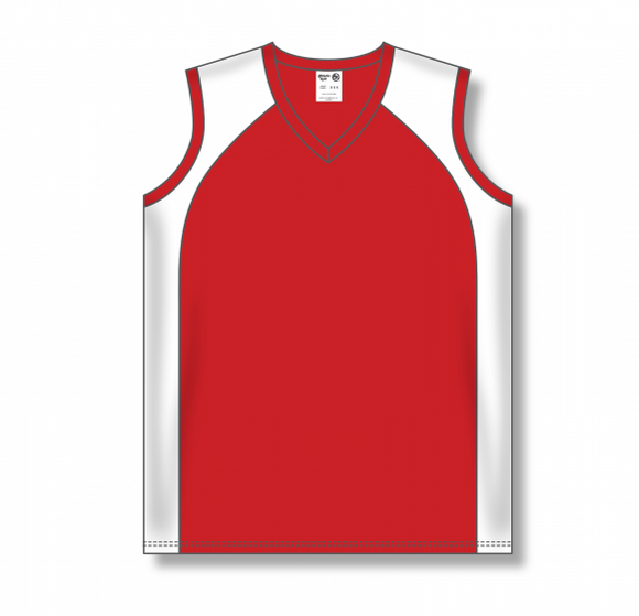 Athletic Knit (AK) BA601L Ladies Red/White Softball Jersey