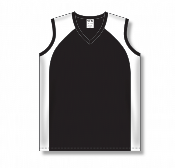 Athletic Knit (AK) BA601L Ladies Black/White Softball Jersey