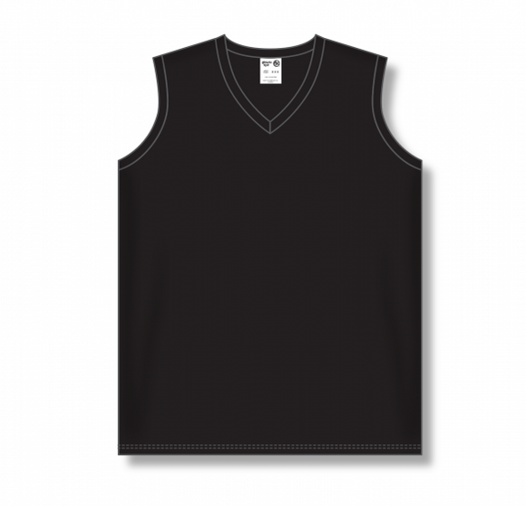 Athletic Knit (AK) BA635L Ladies Black Softball Jersey