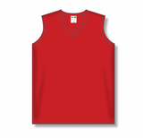 Athletic Knit (AK) LF635L-005 Ladies Red Field Lacrosse Jersey