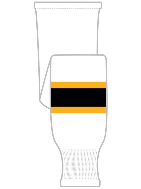 K1 Sportswear Boston Bruins White Knit Ice Hockey Socks