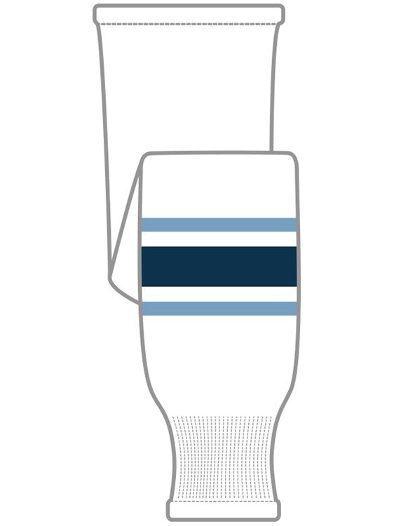 K1 Sportswear University of Maine Black Bears White Knit Ice Hockey Socks