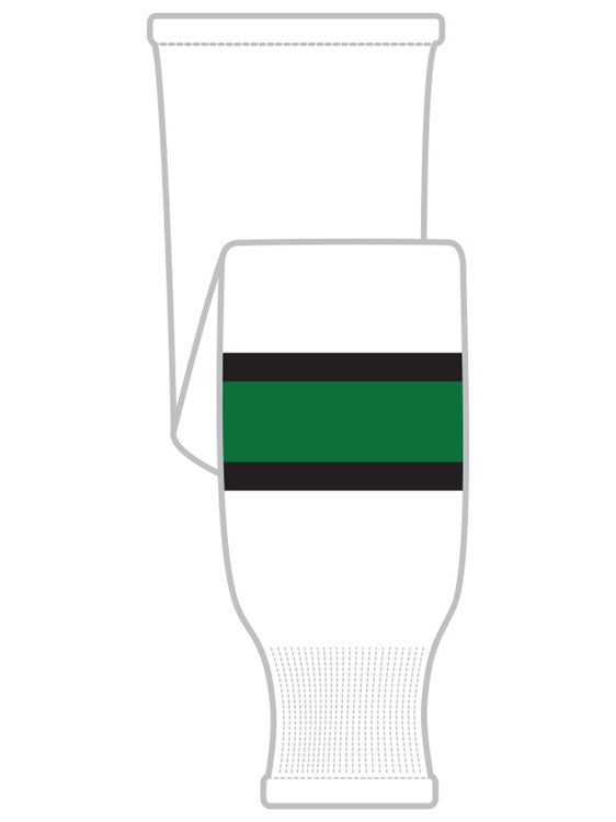 K1 Sportswear University of North Dakota Fighting Sioux White Knit Ice Hockey Socks