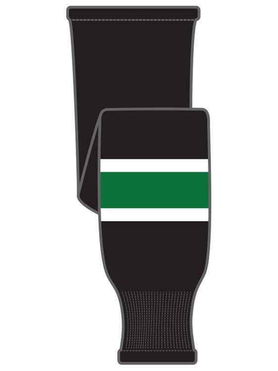K1 Sportswear University of North Dakota Fighting Sioux Black Knit Ice Hockey Socks