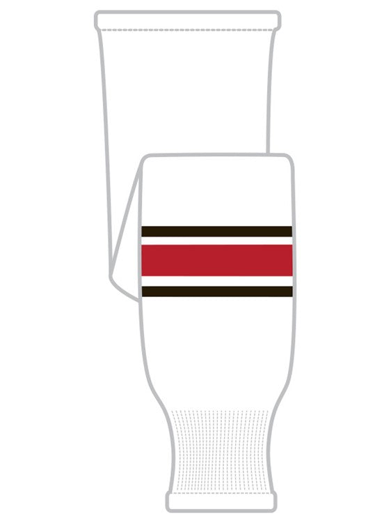 K1 Sportswear Team Canada White Knit Ice Hockey Socks