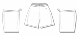 Athletic Knit (AK) BAS1300-000 White Baseball Shorts