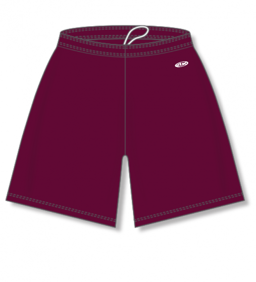 Athletic Knit (AK) BAS1300 Maroon Baseball Shorts