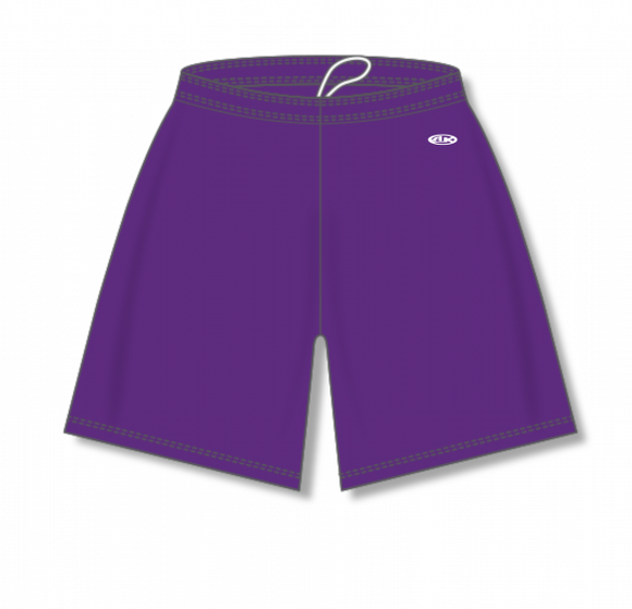 Athletic Knit (AK) BAS1300 Purple Baseball Shorts