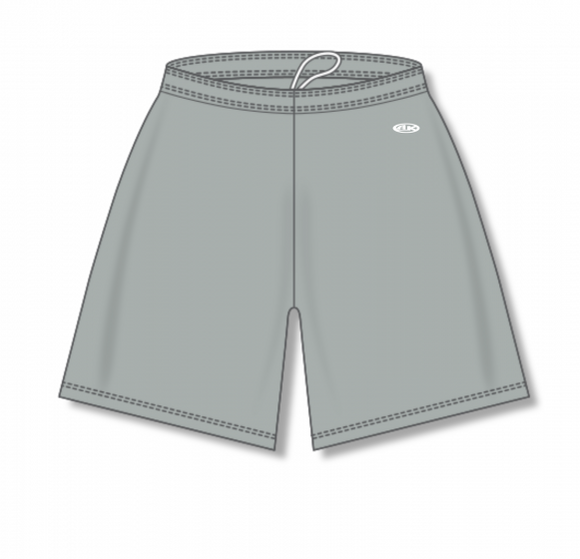 Athletic Knit (AK) BAS1300 Grey Baseball Shorts