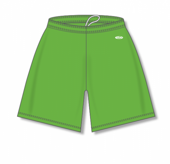 Athletic Knit (AK) BAS1300 Lime Green Baseball Shorts
