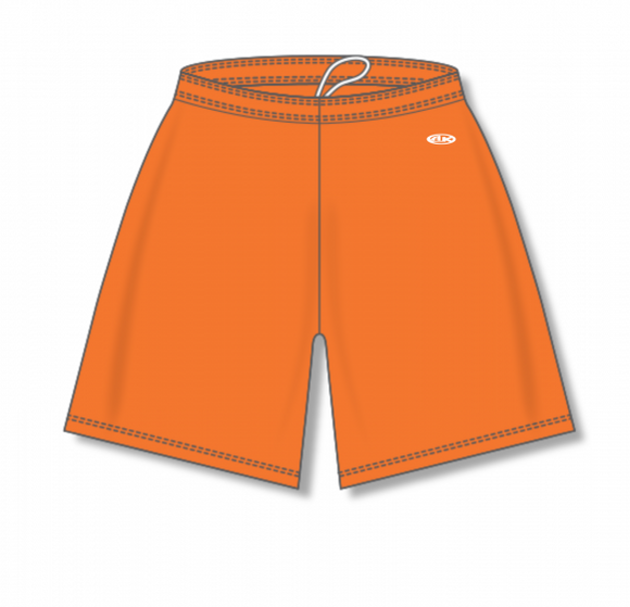 Athletic Knit (AK) BAS1300 Orange Baseball Shorts