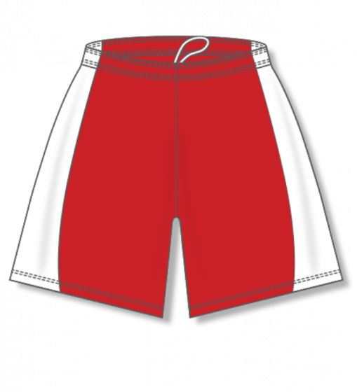 Athletic Knit (AK) BAS605L Red/White Ladies Baseball Shorts