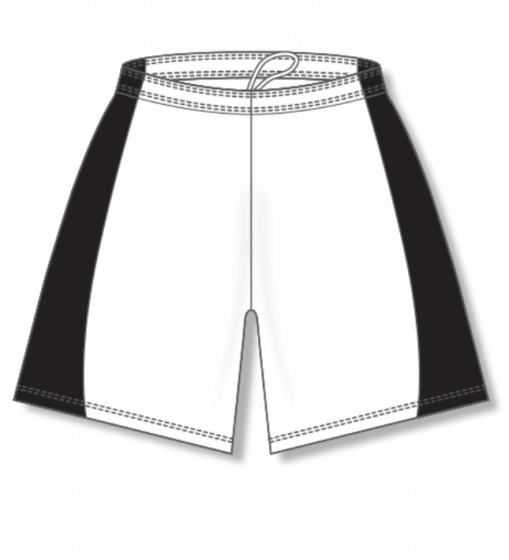 Athletic Knit (AK) BAS605L White/Black Ladies Baseball Shorts