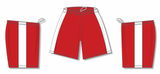 Athletic Knit (AK) BS9145-208 Red/White Pro Basketball Shorts