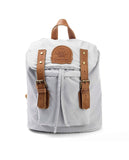 MINI BACKPACK COLORES PASTEL LIGHT GRAY