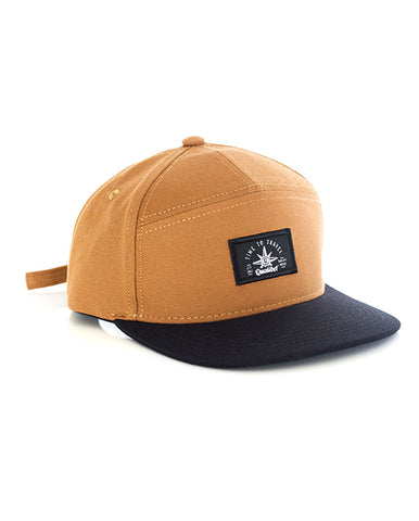 SIX PANNEL CAP BROWN X BLACK