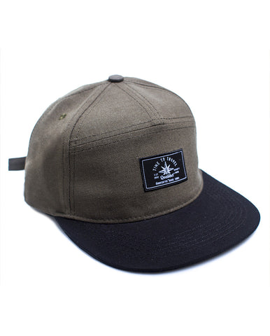 SIX PANNEL CAP GREEN X BLACK