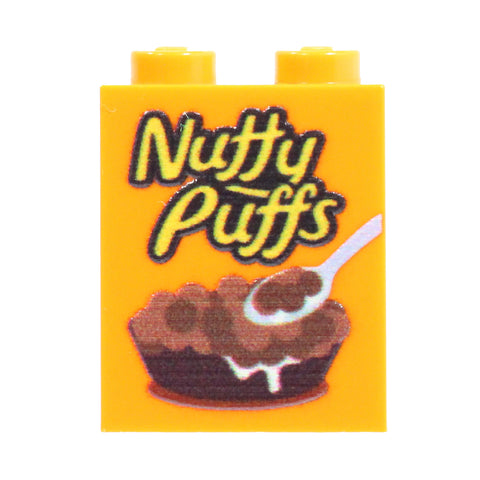 Nutty Puffs Cereal Box