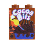 Cocoa Bits Cereal Box