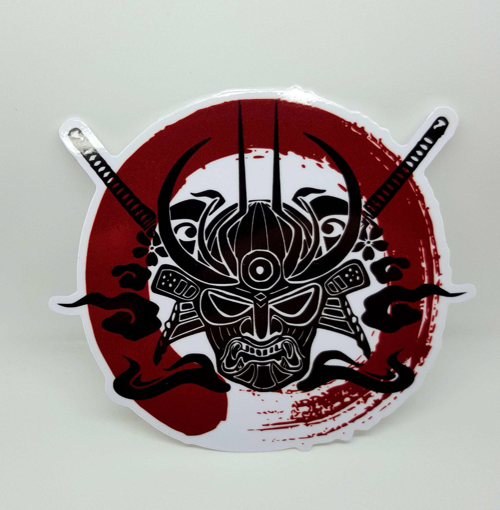 Samurai Enso Blood Circle Sticker , Sticker - A Vol d'Oiseau, A Vol d'Oiseau  - 1