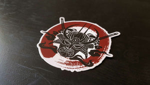 Samurai Enso Blood Circle Sticker , Sticker - A Vol d'Oiseau, A Vol d'Oiseau  - 3