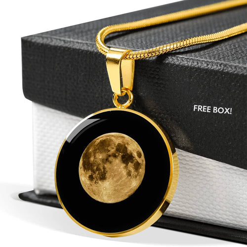 I Love You To The Moon And Back - Gold Pendant