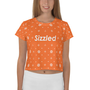 Sizzled - All-Over Print Crop Tee