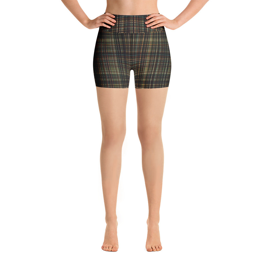 You Just Got Plaid - Yoga Shorts