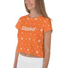 Load image into Gallery viewer, Sizzled - All-Over Print Crop Tee