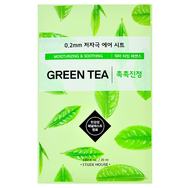 Etude House - 0.2 Therapy Air Mask - Green Tea | Chuusi | Shop Korean and Taiwanese Cosmetics & Skincare at Chuusi.ca