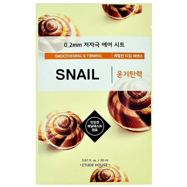Etude House - 0.2 Therapy Air Mask - Snail | Chuusi | Shop Korean and Taiwanese Cosmetics & Skincare at Chuusi.ca