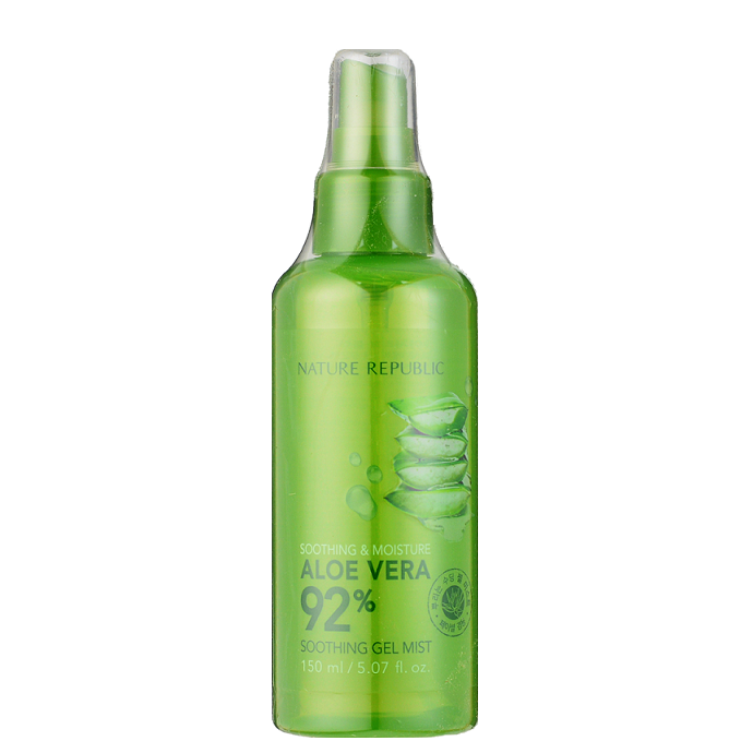 NATURE REPUBLIC Soothing & Moisture Aloe Vera 92% Soothing Gel Mist -- Shop Korean Japanese Taiwanese Skincare in Canada & USA at Chuusi.ca